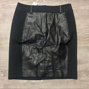 NWT Faux Leather Ann Taylor Pencil Skirt Size 4